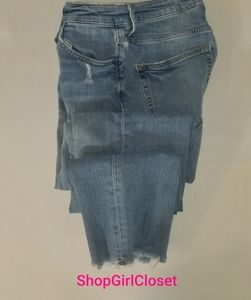 & Denim Jeans....raw edge...size 27